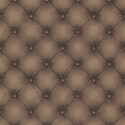 Beacon House by Brewster 2604-21232 Oxford Chesterfield Chestnut Tufted Leather Wallpaper