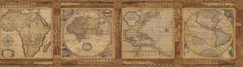 Chesapeake by Brewster MAN01832B Gentlemen's Quarters Oliver Burnt Sienna Map Border