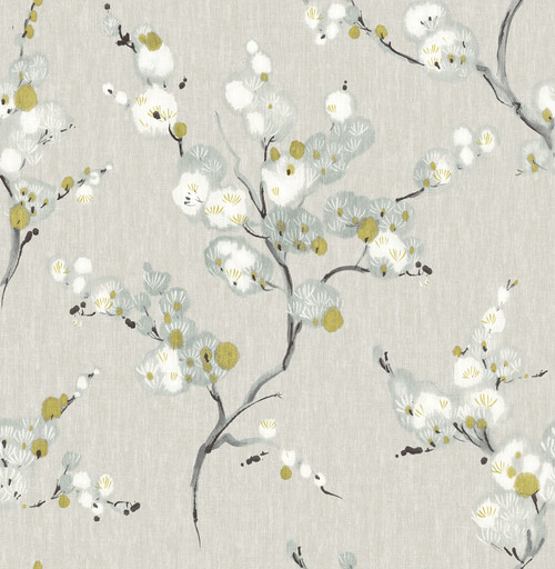 A-Street Prints by Brewster 2764-24308 Mistral Bliss Blue Blossom Wallpaper