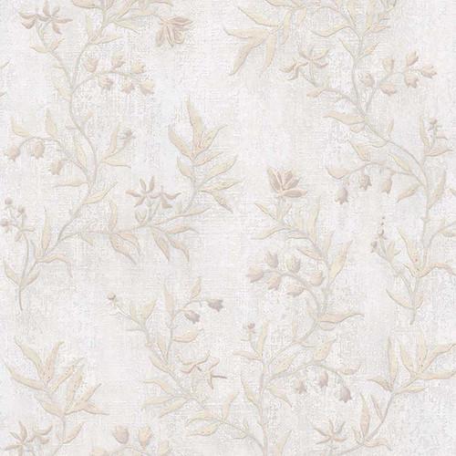 Brewster 2811-JY11101 Advantage Dahlia Ivory Trail Wallpaper Ivory