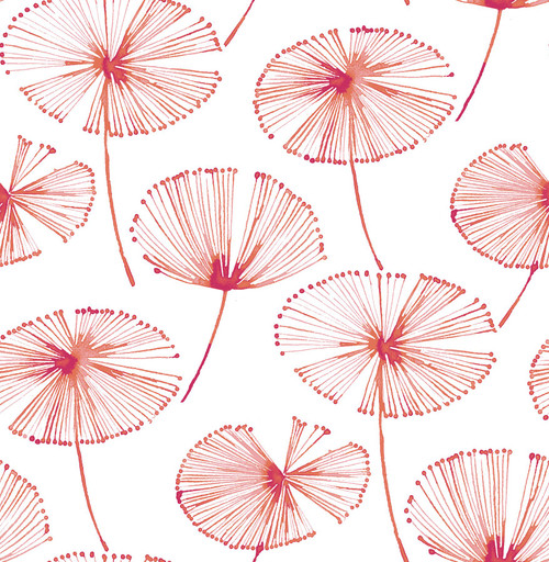 A-Street Prints by Brewster 2656-004006 Paradise Pink Fronds Wallpaper