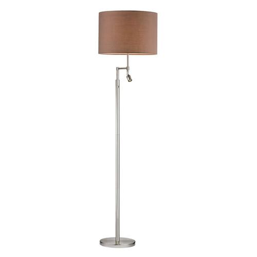 Dimond lighting by Elk D2552 Beaufort Floor Lamp in Satin Nickel With