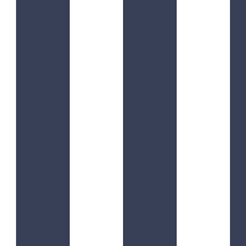 """2.5"""" Tent Stripe Wallpaper in Navy and Blue SH34555  by Norwall"""