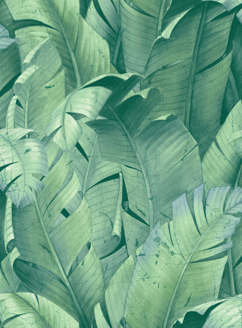 Exotic Blue Green Tropical Banana Leaf Peel and Stick Wallpaper Grace & Gardenia