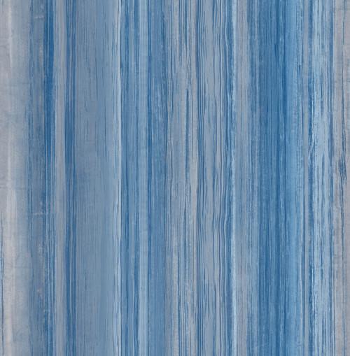 Blue & Grey Contemporary Stripe Peel and Stick Wallpaper Grace & Gardenia