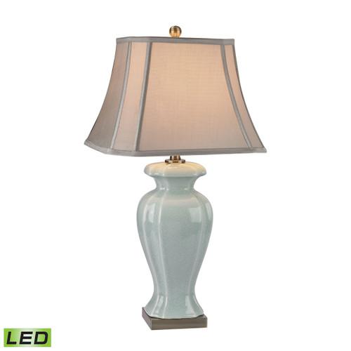 Celadon LED Table Lamp Dimond Lighting by ELK D2632-LED in Glazed Green Ceramic