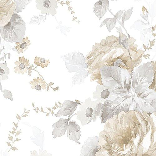 Cavalier Wall Liner RG35723 Rose Garden 2 La Rosa Wallpaper Beige, Grey