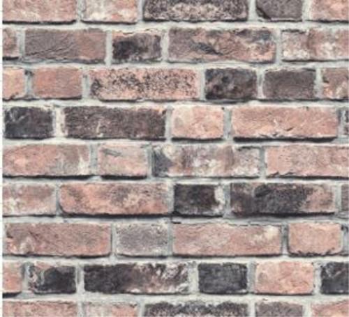 Grace & Gardenia GW2001W Antique Red Brick Peel and Stick Wallpaper