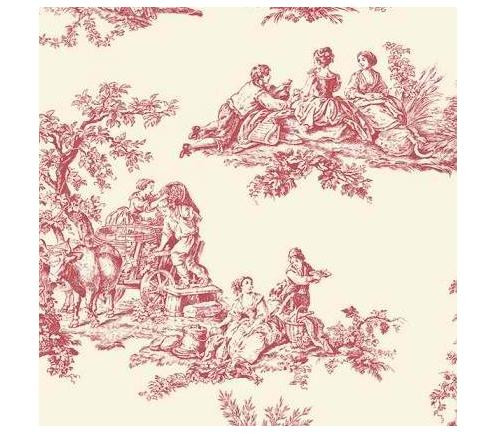 Patton GC29851 Toile Wallpaper, Beige