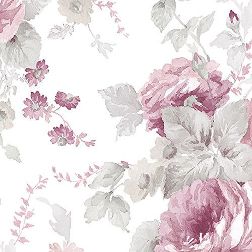 Cavalier Wall Liner RG35722 Rose Garden 2 La Rosa Wallpaper Pink, Grey