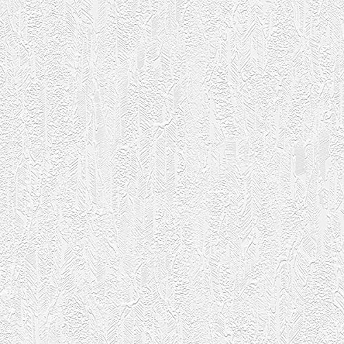 Norwall Wallcoverings 48912 Architectural Inspirations Fossil Texture Paintable Wallpaper White