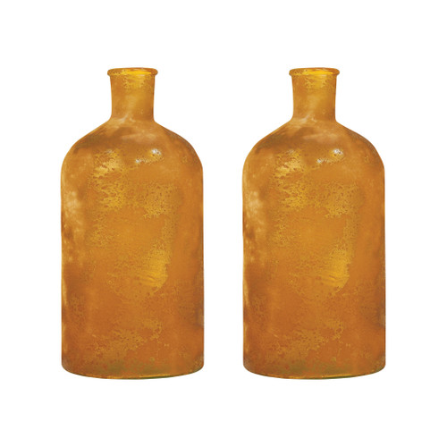 ELK 310317/S2 Pomeroy Helena Set of 2 Bottles Textured Honey