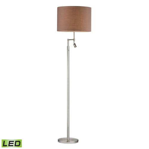Dimond lighting by Elk D2552-LED Beaufort Floor Lamp  Satin Nickel With