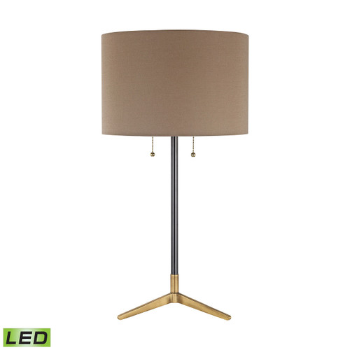 Clubhouse LED Table Lamp Dimond lighting by ELK D3120-LED Antique Brass