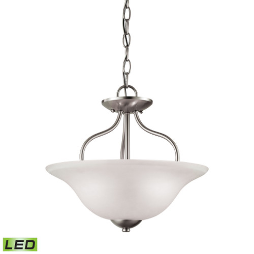 Conway 2-Light Semi Flush Mount in Brushed Nickel by Elk 1202CS/20-LED