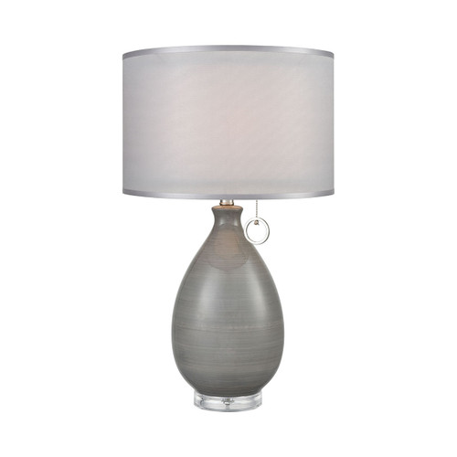 Clothilde Table Lamp Dimond lighting by ELK D3792 grey glaze with clear acrylic