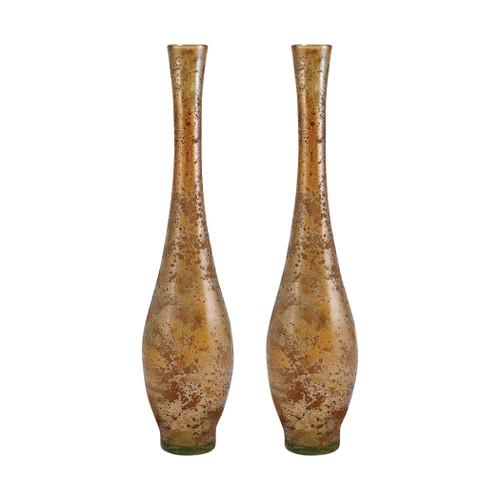 "ELK 311604/S2 Pomeroy Atlas Set of 2 Vases 19.5"" Textured Sand"