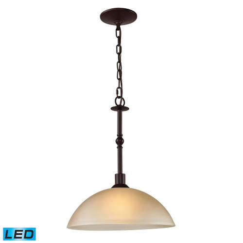 1 Light Pendant In Oil Rubbed Bronze With LED Option by Elk 1301PL/10-LED