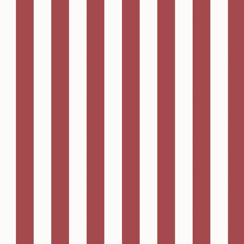 """Norwall Wallcoverings SD36125 Stripes & Damasks 3 1.25"""" Regency Stripe Wallpaper Red White"""
