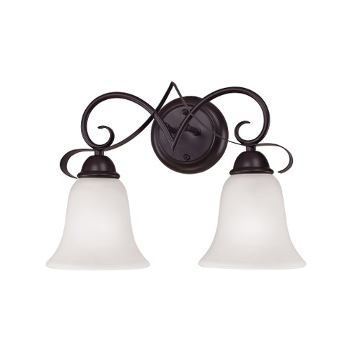 Brighton 2-Light Vanity Light in Oil Rubbed Bronze with White Glass by Elk 1052BB/10