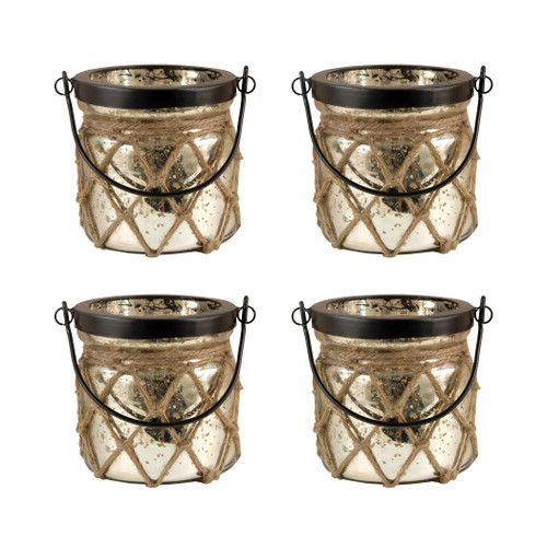 ELK 401558/S4 Pomeroy Candice Set of 4 Lanterns Antique Wheat