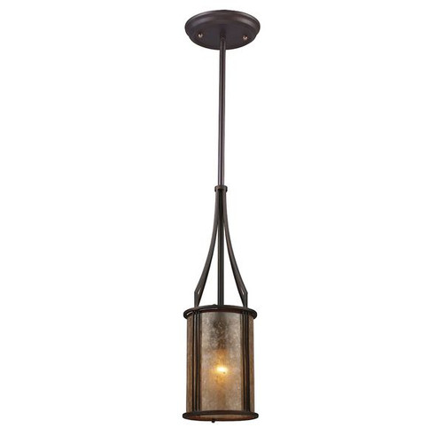 Barringer 1 Light Pendant And Tan Glass Mica Shade by ELK 15033/1
