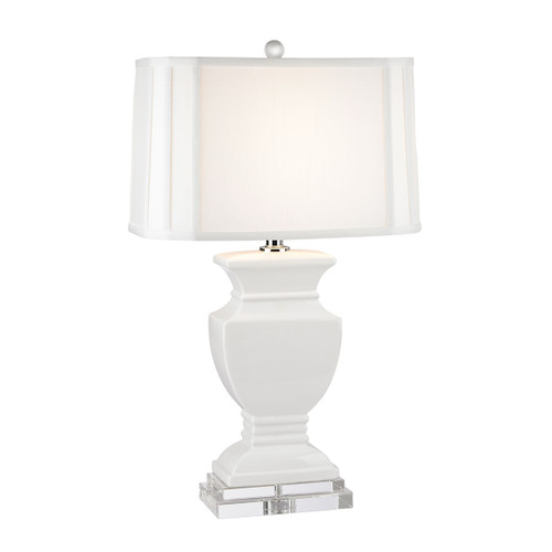 Ceramic Table Lamp Dimond Lighting by ELK D2634 in Gloss White And Crystal