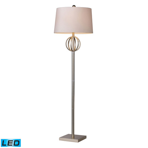 ELK D1495-LED Donora LED Floor Lamp In Silver Leaf with Off White Shade