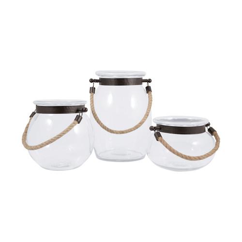 Elk 609640 Pomeroy Watertown Set Of 3 Lanterns Clear