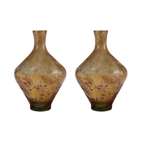 "ELK 311581/S2 Pomeroy Atlas Set of 2 Vases 11"" Textured Sand"
