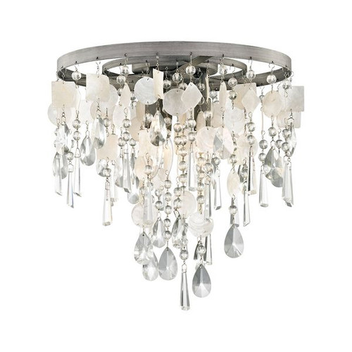 Alexandra 3 Light LED Semi Flush In Weathered Zinc with No Shade by ELK 15931/3