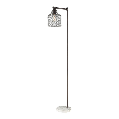 Town and Country Floor Lamp by ELK D3579 bronze metal with white marble
