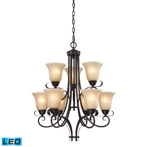 9 Light Chandelier by Elk 1009CH/10-LED