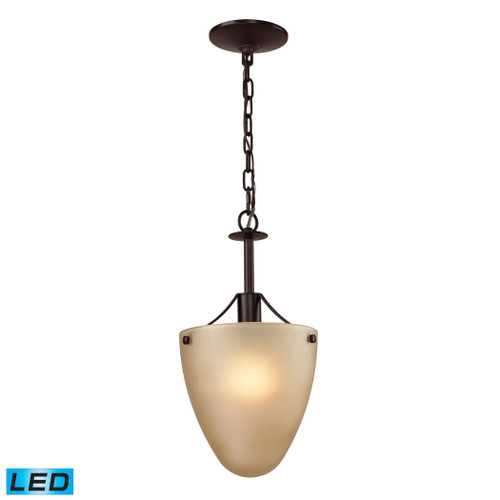 1 Light Semi Flush In Oil Rubbed Bronze With LED Option by Elk 1301CS/10-LED