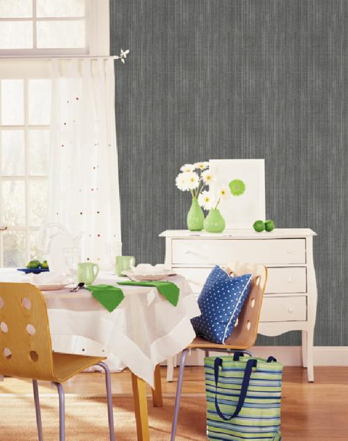 Norwall Concerto Collection WF36300 Asami Texture Wallpaper Black