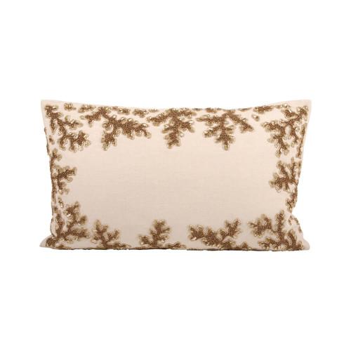 "Elk 904011 Pomeroy Autumn Shimmer Pillow 20X12"" Dark Earth"