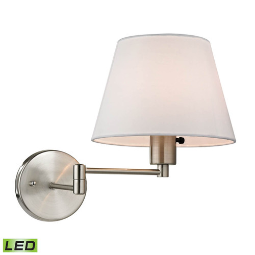 Avenal 1 Light LED Swingarm Sconce In Brushed Nickel ELK 17153/1-LED