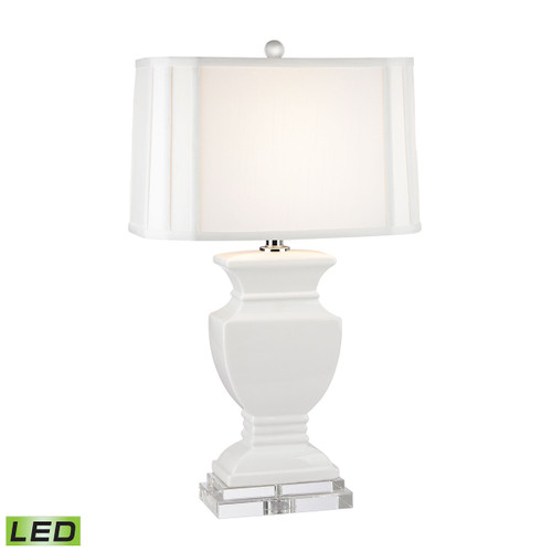 Ceramic LED Table Lamp Dimond Lighting D2634-LED in Gloss White And Crystal