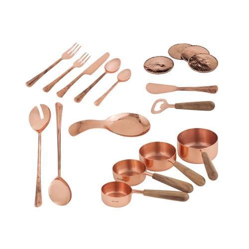 Elk 619632/S18 Pomeroy Coppersmith Kitchen Set of 18 Copper