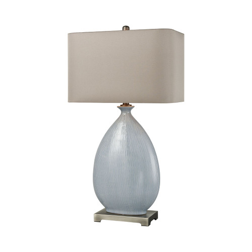 Bluelace Table Lamp Dimond lighting by ELK D3620 light blue crackle ceramic with pewter