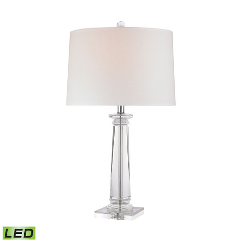 Classical Column LED Table Lamp Dimond lighting by ELK D2843-LED Clear Crystal