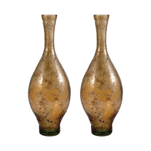 "ELK 311598/S2 Pomeroy Atlas Set of 2 Vases 15.75"" Textured Sand"