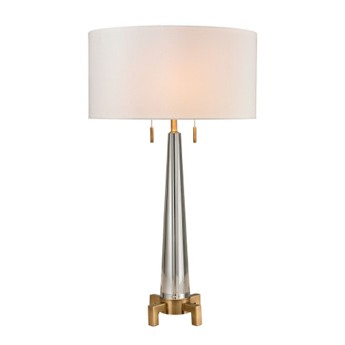 Bedford Solid Crystal Table Lamp Dimond Lighting by ELK D2682 in Aged Brass
