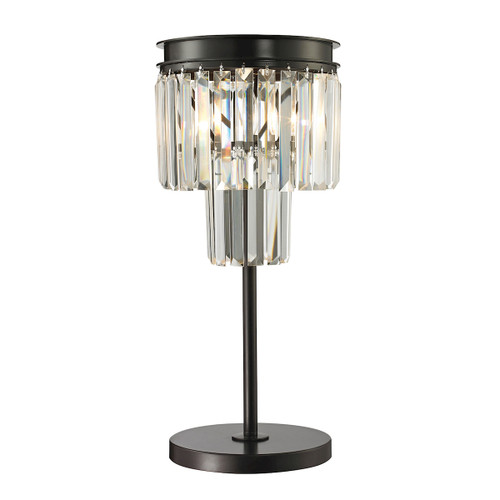 Dimond lighting 14210/1 Palacial 1 Light Table Lamp In Oil Rubbed Bronze And Clear Crystal