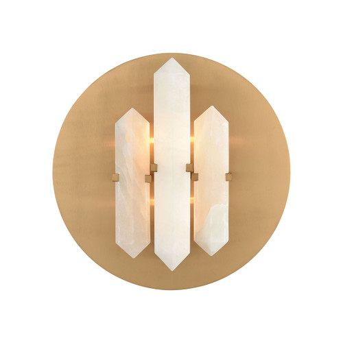 Annees Folles Wall Sconce Dimond lighting by ELK D3690 white and aged brass