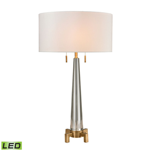 Bedford Solid Crystal LED Table Lamp Dimond Lighting D2682-LED in Aged Brass
