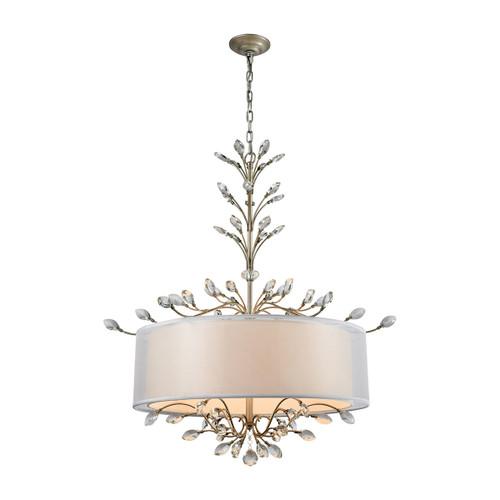 Asbury 6 Light LED Chandelier In Aged Silver by Elk 16283/6
