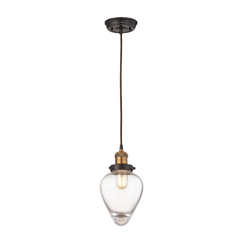 Bartram 1 Light Pendant In Oil Rubbed Bronze And Antique Brass by Elk 16325/1