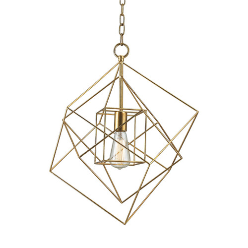 Dimond lighting 1141-013 Neil 1 Light Box Pendant In Gold Leaf - Small
