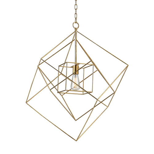 Dimond lighting 1141-014 Neil 1 Light Box Pendant In Gold Leaf - Large